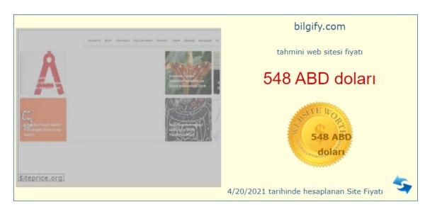 Web sitem ne kadar eder?